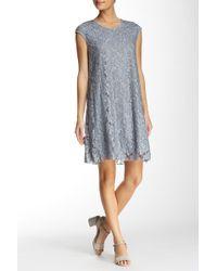 Max Studio - Floral Lace Shift Dress - Lyst