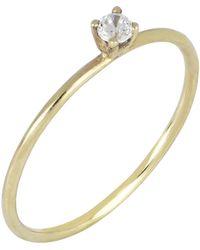 Bony Levy - 18k Yellow Gold Single Diamond Ring - 0.05 Ctw - Lyst