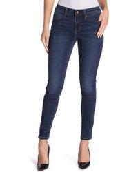 Nicole Miller Dakota High Rise Skinny Jeans - Blue