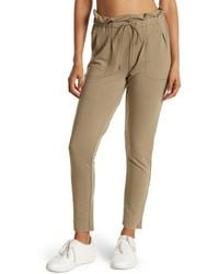 X By Gottex Terry Paperbag Waist Drawstring Pants - Multicolor