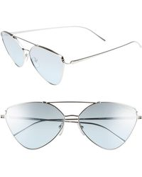 Prada 62mm Aviator Sunglasses - Metallic