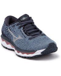 Mizuno Wave Sky 3 Waveknit Running Sneaker - Blue