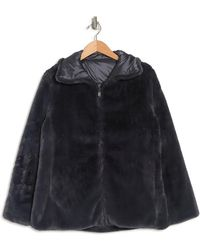 Save The Duck Reversible Quilted Faux Fur Lined Zip Coat - Multicolor