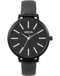 Breda - Women's Joule Leather Strap Watch, 37mm - Lyst
