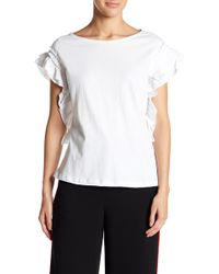 Romeo and Juliet Couture Ruffle Knit Tee - White