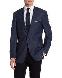 Hart Schaffner Marx - Dark Blue Two Button Notch Lapel Wool Blend New York Fit Sport Coat - Lyst