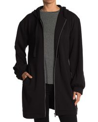 Laundry by Shelli Segal Long Zip Front Hoodie - Black