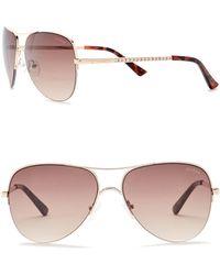 Guess - Women's Aviator 58mm Sunglasses - Lyst