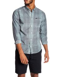 RVCA - That'll Do Plaid Slim Fit Shirt - Lyst
