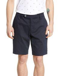Ted Baker Italie Slim Fit Print Shorts - Blue