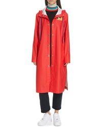 Proenza Schouler Pswl Longline Raincoat - Red