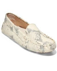 Cole Haan Evelyn Snakeskin Embossed Leather Driver - Multicolor