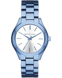 MICHAEL Michael Kors - Women's Blue Bracelet Watch - Lyst