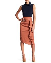 Do+Be Collection | Cascading Ruffle Pencil Skirt | Lyst