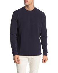 Quinn Long Sleeve Crew Neck T-shirt - Blue