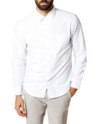 Good Man Brand - Geometric Print Trim Fit Sport Shirt - Lyst