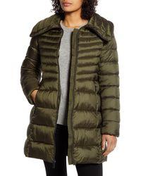 Ellen Tracy Puffer Jacket - Green