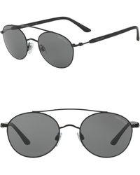 Giorgio Armani - Round 53mm Steel Sunglasses - Lyst