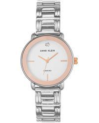 Anne Klein - Women's Diamond Dial Bracelet Watch, 32mm - 0.005 Ctw - Lyst