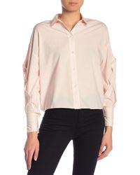 dbbf06ff Joie Brigid C Floral Plaid Button Up Silk Shirt in Blue - Lyst