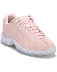 K-swiss Topstitched Leather Sneaker - Pink