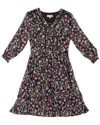 Nanette Lepore Floral Ruffled Dress - Black