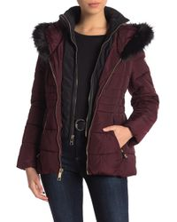Guess - Faux Fur Trimmed Hooded Jacket - Lyst