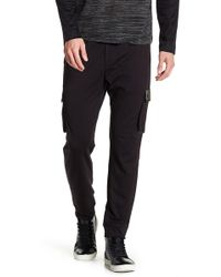 Quinn - Ross Genuine Leather Trim Cargo Pant - Lyst