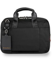 Briggs & Riley Small Expandable Briefcase - Black