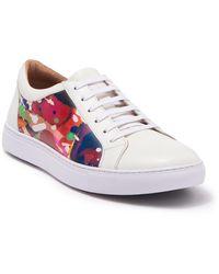 Robert Graham Ignition Leather Sneaker - White