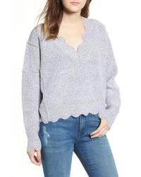 Love By Design - Scallop Sweater - Lyst