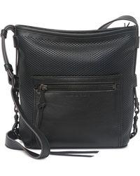 Aimee Kestenberg Misfit Perforated Leather Crossbody Bag In Black At Nordstrom Rack