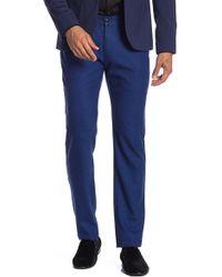 "T.R. Premium Comfort Fit Stretch Solid Pants - 32-34"" Inseam - Blue"