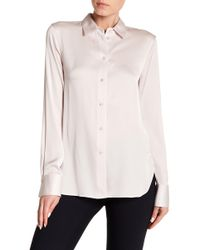 Vince - Slim Fitted Silk Blend Blouse - Lyst