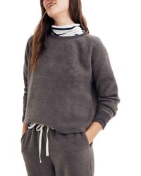 Madewell - Fleece Pajama Sweatshirt - Lyst