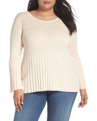 Sejour - Ribbed Cotton Blend Sweater (plus Size) - Lyst