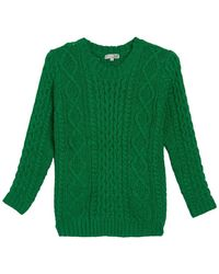Kut From The Kloth Crew Neck Cable Knit Sweater - Green