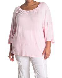 XCVI Ronan Bell Sleeve Top - Pink