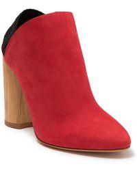 3.1 Phillip Lim Phillip Lim Leather Block Heel Pump - Red