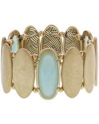 The Sak Oval Stretch Bracelet - Metallic