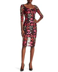 Alexia Admor Floral Embroidered Sheath Dress