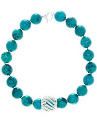 Simon Sebbag - Turquoise Bead & Barrel Necklace - Lyst