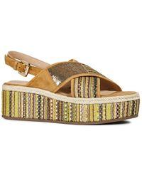 Geox Shakima Platform Slingback Sandal - Multicolor