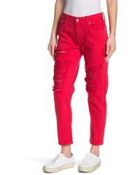 Lucky Brand Sienna Slim Fit Boyfriend Jeans - Red