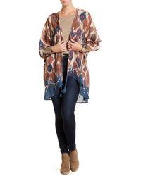 Saachi - Draped Printed Kimono - Lyst