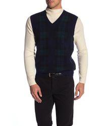 Brooks Brothers - V-neck Blackwatch Vest - Lyst