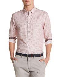 Ted Baker - Dot Print Trim Fit Shirt - Lyst