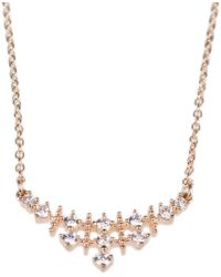 CZ by Kenneth Jay Lane - Round-cut Cz Pendant Necklace - Lyst