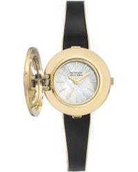 Badgley Mischka Women's Swarovski Crystal Accented Quartz Watch, 28mm - Metallic
