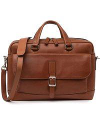 Frye Men's Oliver Two-handle Leather Messenger Bag - Cognac - Brown
